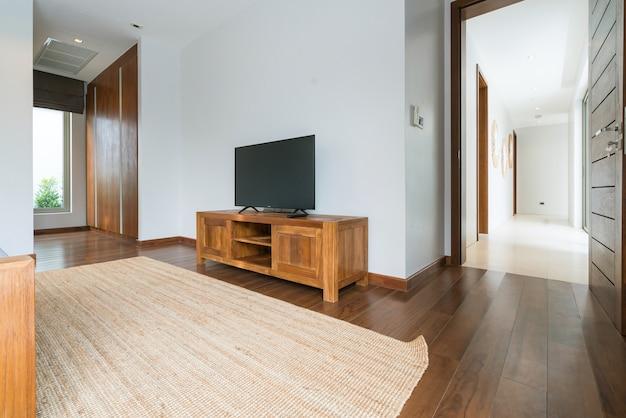 Casa de corredor design de interiores e exterior, tv, televisão