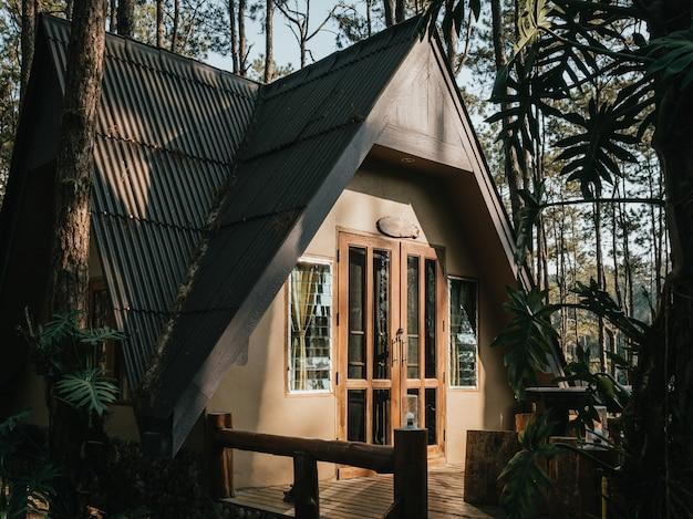 Casa de férias na floresta de pinheiros