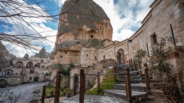 Casa de pedra na capadócia, goreme, turquia