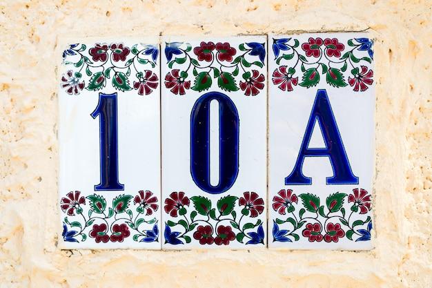 Casa de quarto em azulejos com ornamentos