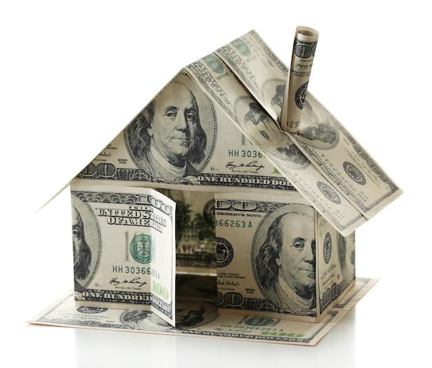 Casa do dólar em branco