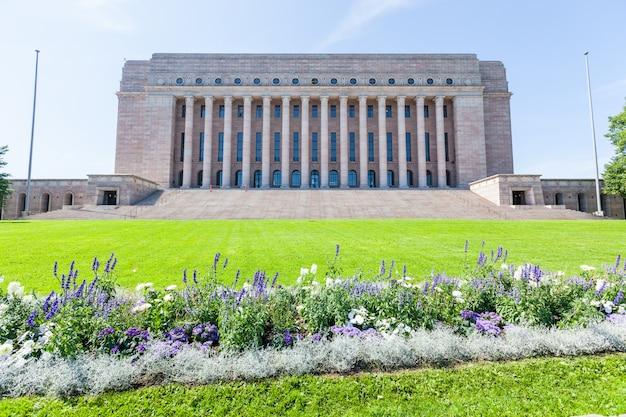 Casa do parlamento finlandês em helsínquia