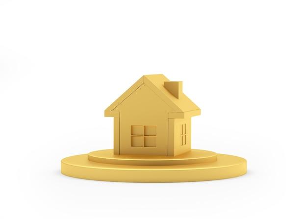 Casa dourada em estande