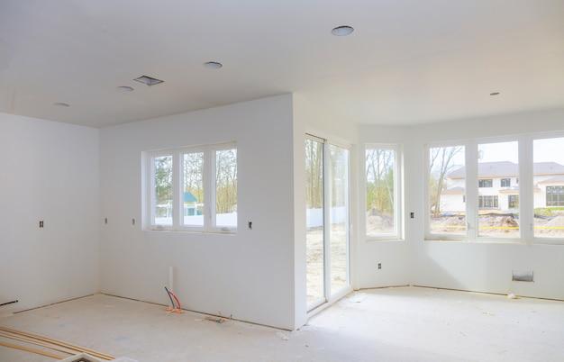 Casa em construção nova adição remodelar fase.