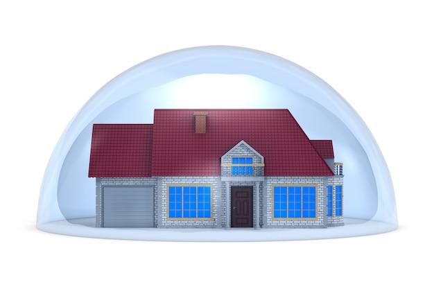 Casa em cúpula em branco.