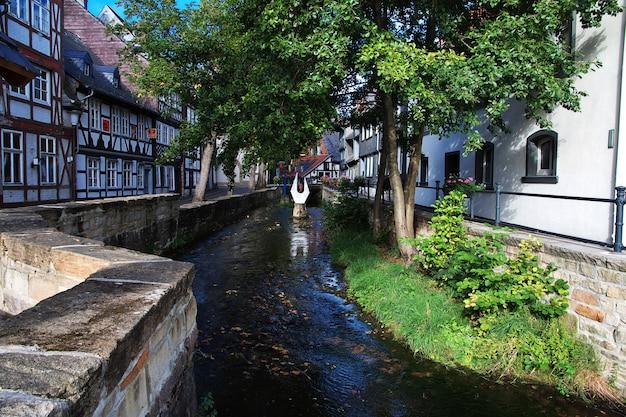 Casa fachwerk na cidade de goslar, alemanha