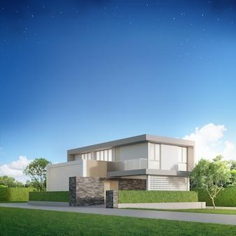 Casa luxuosa com design moderno