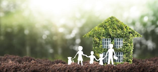 Casa modelo há espaço. conceito home eco e imobiliário