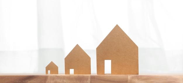 Casa modelo lá. conceito de casa, habitação e imobiliário