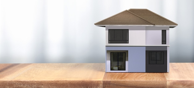 Casa modelo lá espaço. conceito de habitação e imóveis