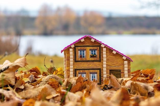 Casa no rio. moradia aconchegante na natureza
