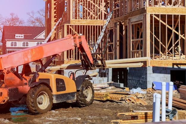 Casa nova em construção construir sua casa de sonho.