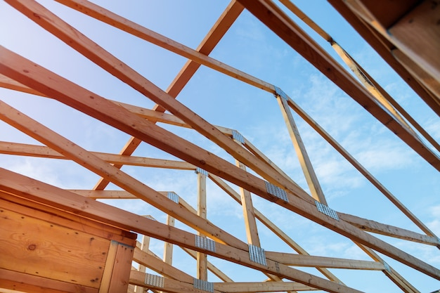 Casa nova em construção exterior