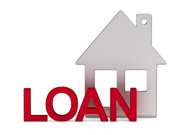 Casa para empréstimo em branco.