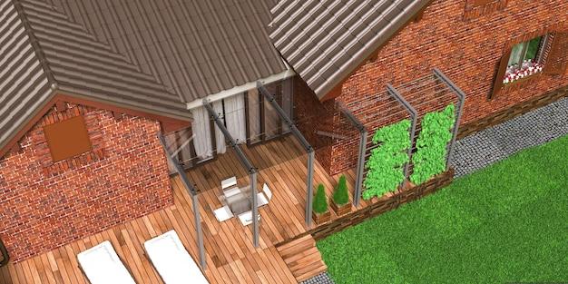 Casa particular, vista aérea