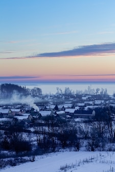 Casa rural no início da manhã