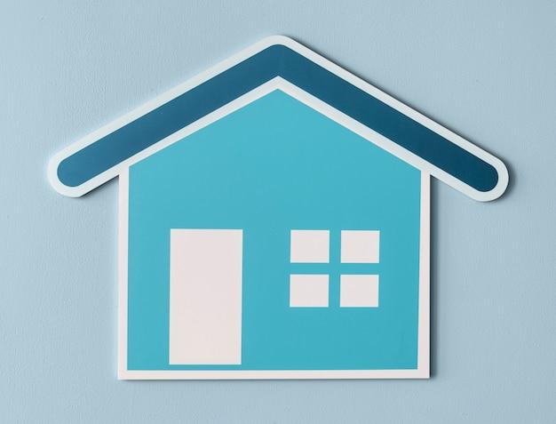 Casa segura cortada ícone
