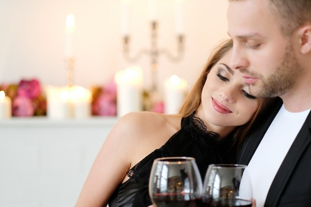 Casal amável