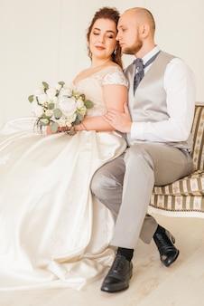 Casal apaixonado casamento