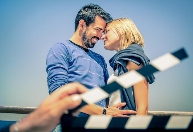 Casal apaixonado como em um filme