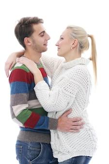 Casal bonito é inlove um no outro