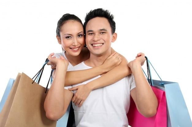 Casal de compras