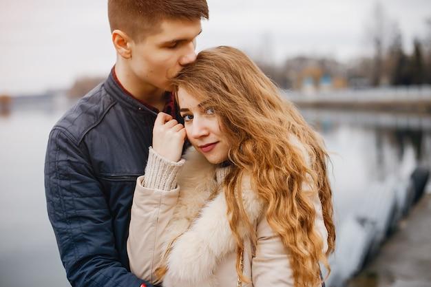 Casal de moda Foto Premium