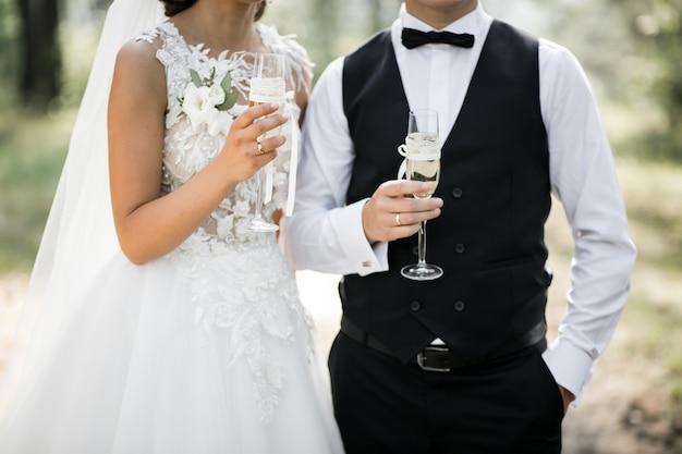 Casal de noivos no dia do casamento