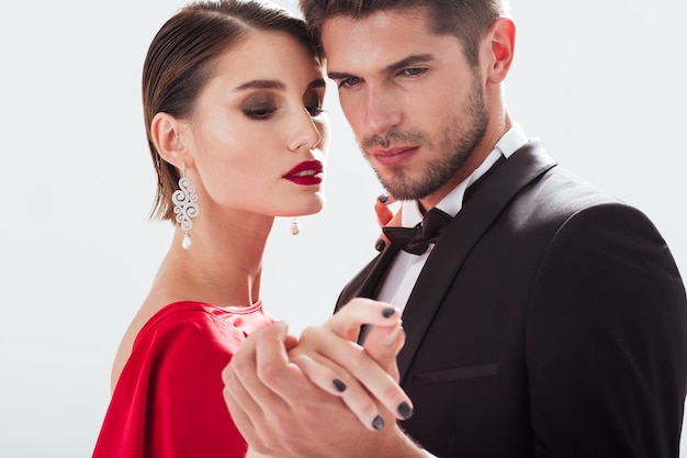 Casal elegante apaixonado. close up portrait