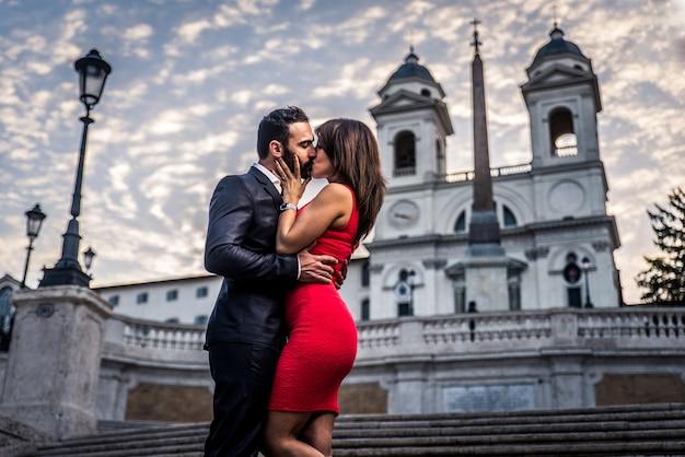 Casal em roma