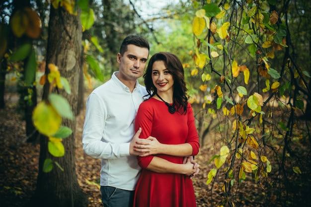Casal homem e mulher apaixonados