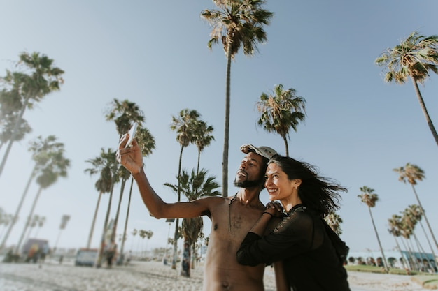 Casal legal em venice beach