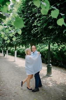 Casal sênior no parque