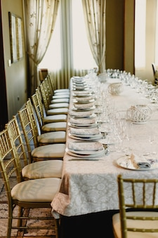Casamento mesa longa