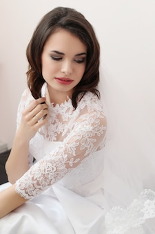 Casamento, noiva em seu vestido