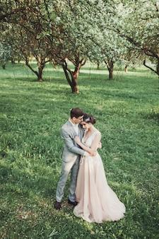 Casamento, par, apaixonado