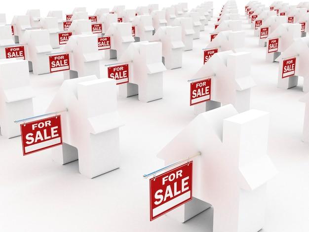 Casas à venda, renderização 3d
