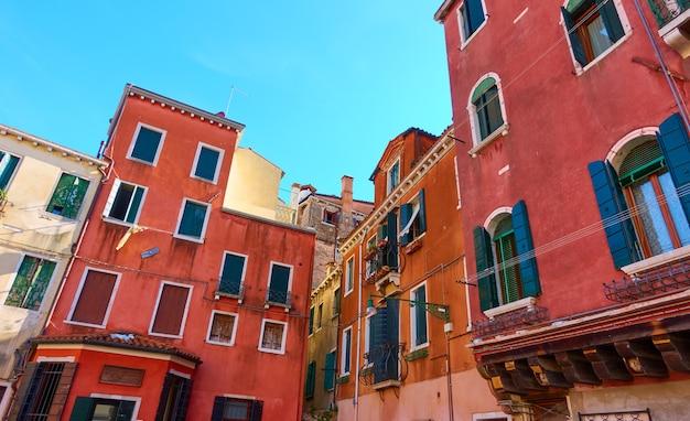 Casas antigas em veneza, itália