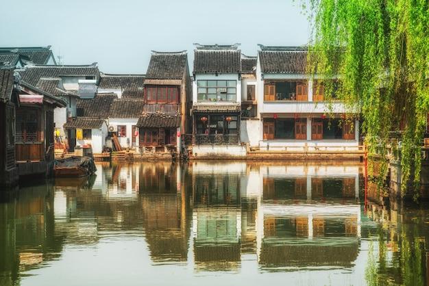 Casas antigas na antiga cidade de suzhou