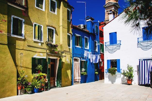 Casas coloridas em burano