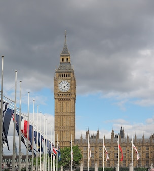 Casas do parlamento, também conhecidas como palácio de westminster em londres, reino unido