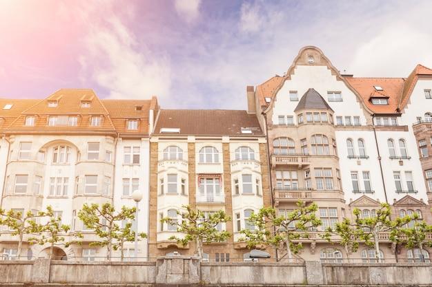 Casas em dusseldorf altstadt, o centro da cidade old town