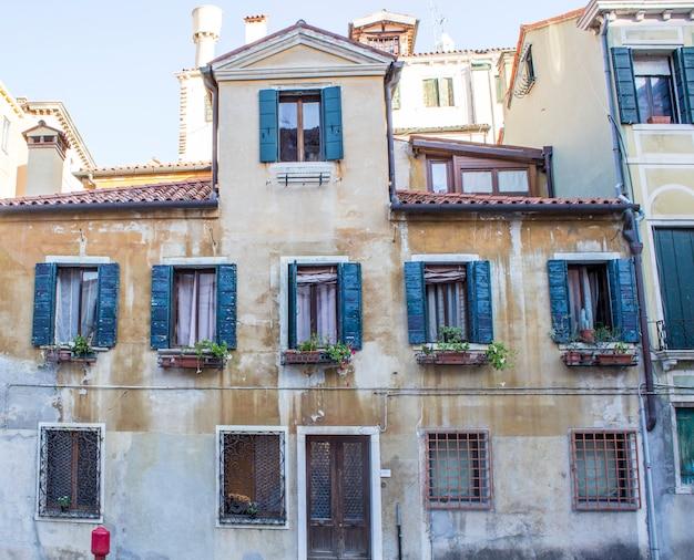 Casas em veneza. ruas venezianas