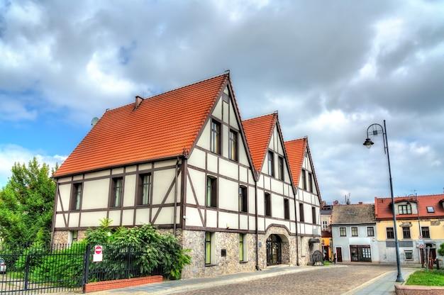 Casas tradicionais em bydgoszcz, a voivodia de kuyavian-pomeranian da polônia