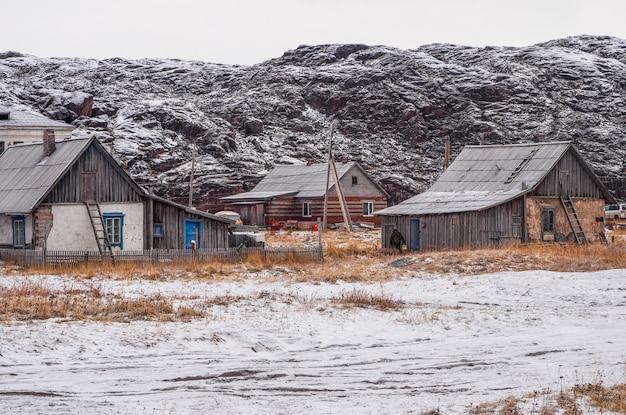 Casas vintage na autêntica vila de teriberka