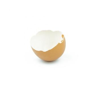 Casca de ovos isolado no branco
