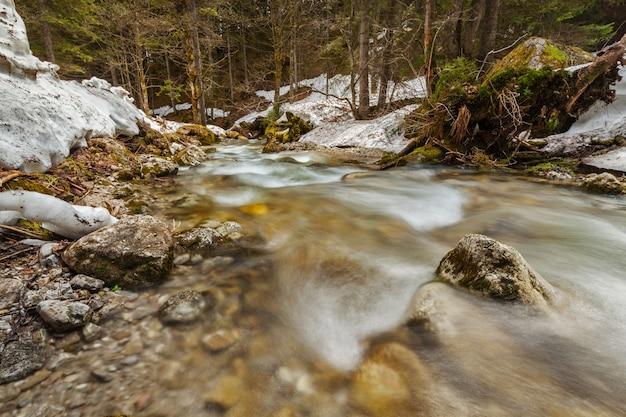 Cascata de sibli-wasserfall. rottach-egern, bavaria, alemanha