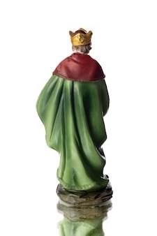 Caspar, o segundo dos três reis magos, isolado em um fundo branco