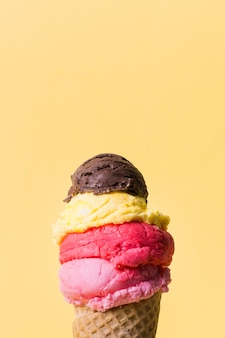 Casquinha de sorvete com espaço para muitas cópias