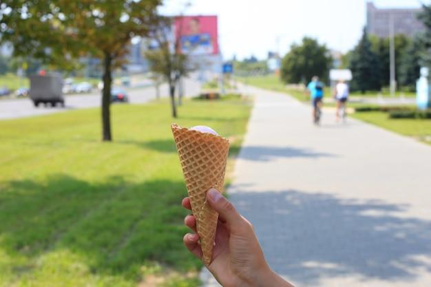 Casquinha de sorvete de chocolate